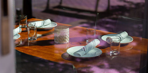 Image of a set table
