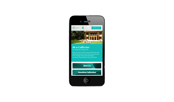 Exclusive Resorts Redesign on Mobile