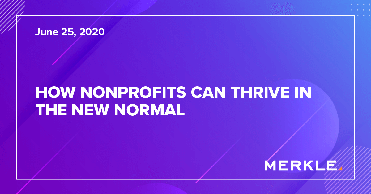 How Nonprofits Can Thrive in the New Normal