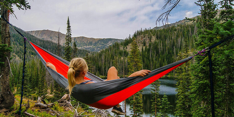 photo of outdoor hammock