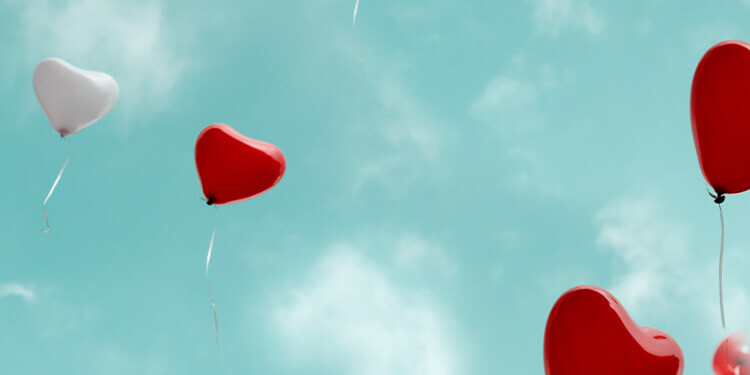 photo of heart balloon