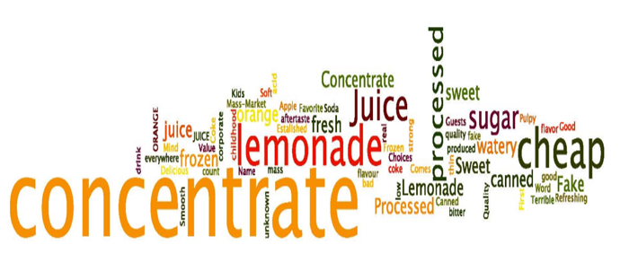 Words associated with the brand Minute Maid and its orange juice