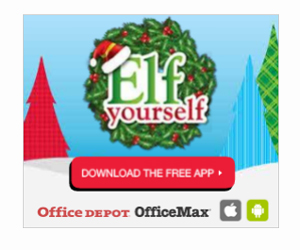 Example of Elf Yourself app display ad