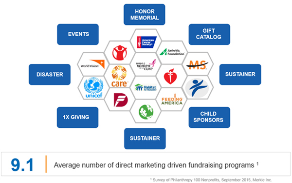 The complex fundraising portfolio for a nonprofit