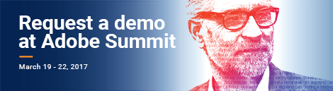 Request a demo at the Adobe Summit