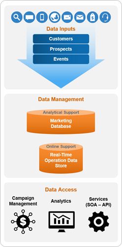 The interpplay of a marketing database and real-time operational data store