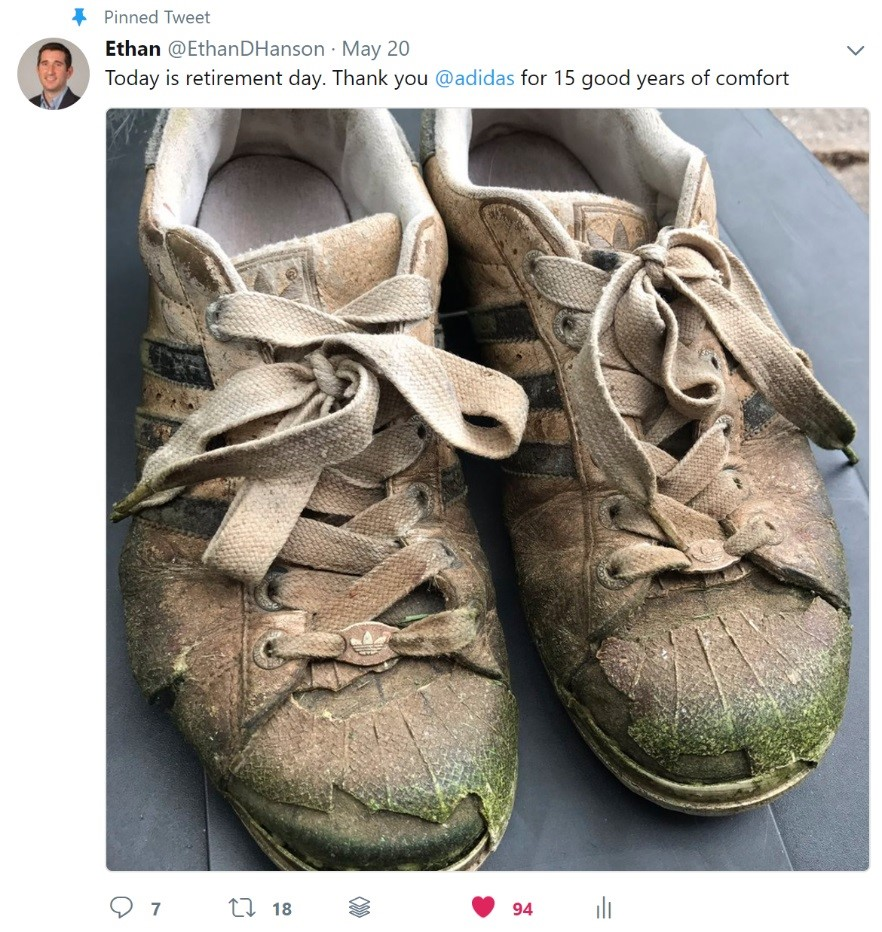 Tweet: Retired Kicks